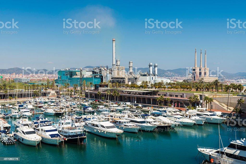 Port Forum, Barcelona stock photo