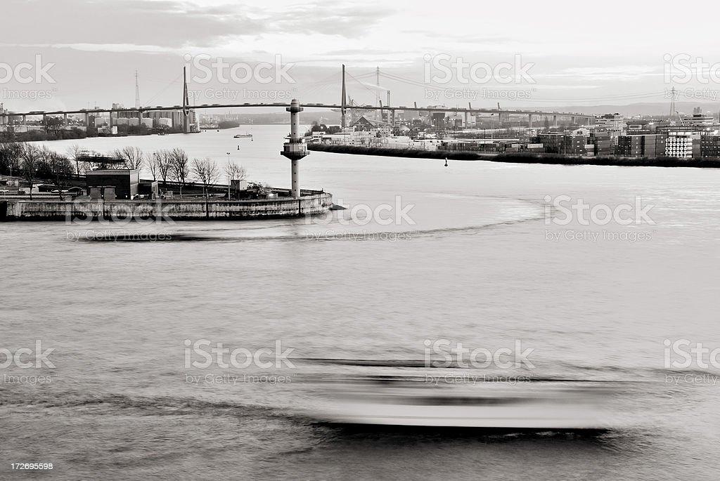 port hamburg royalty-free stock photo