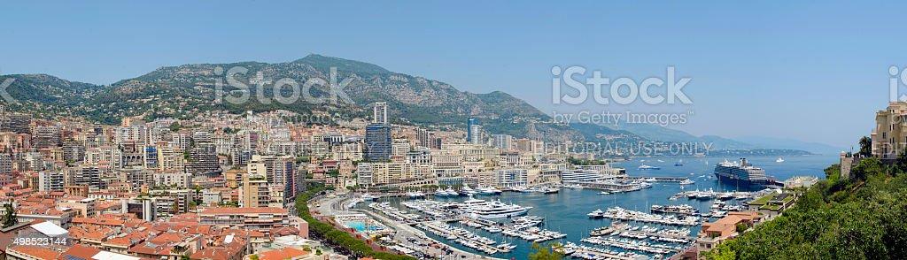 Port Hercule in Monaco Monte Carlo stock photo