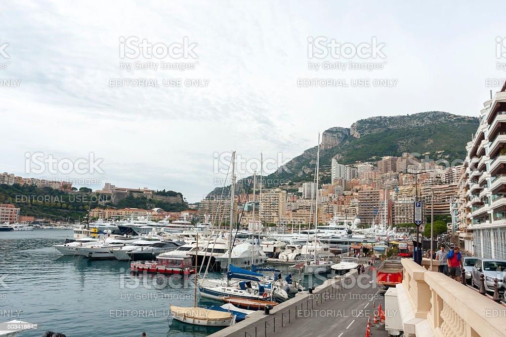 Port Hercule in Monaco stock photo