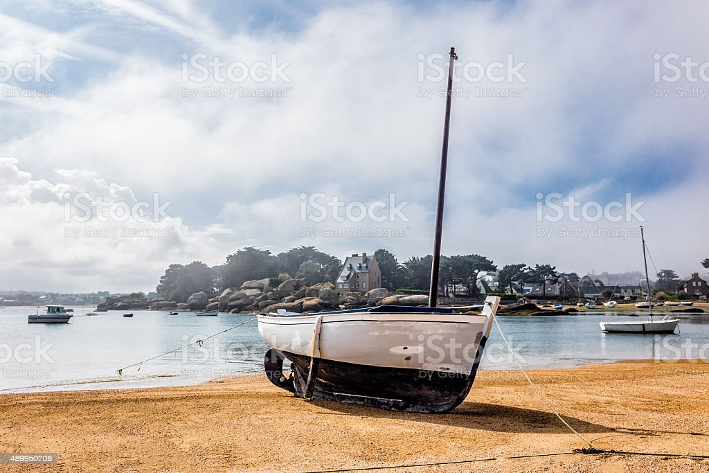 Port in Brittany stock photo