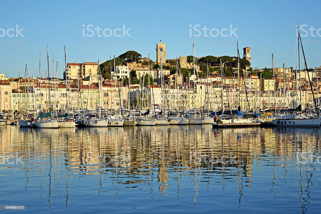Port in Cannes stock photo