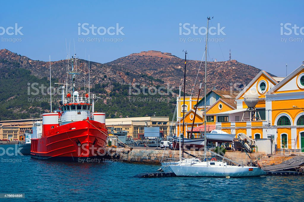 Port in Cartagena, Spain stock photo