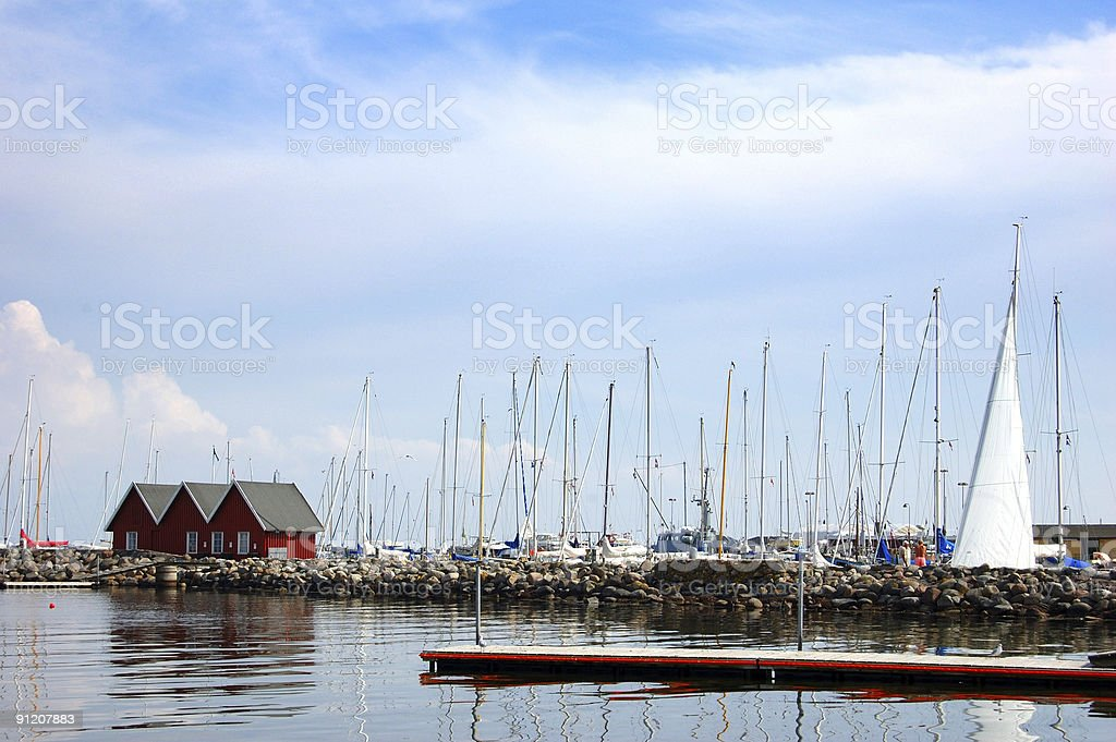 Port in Dragor royalty-free stock photo