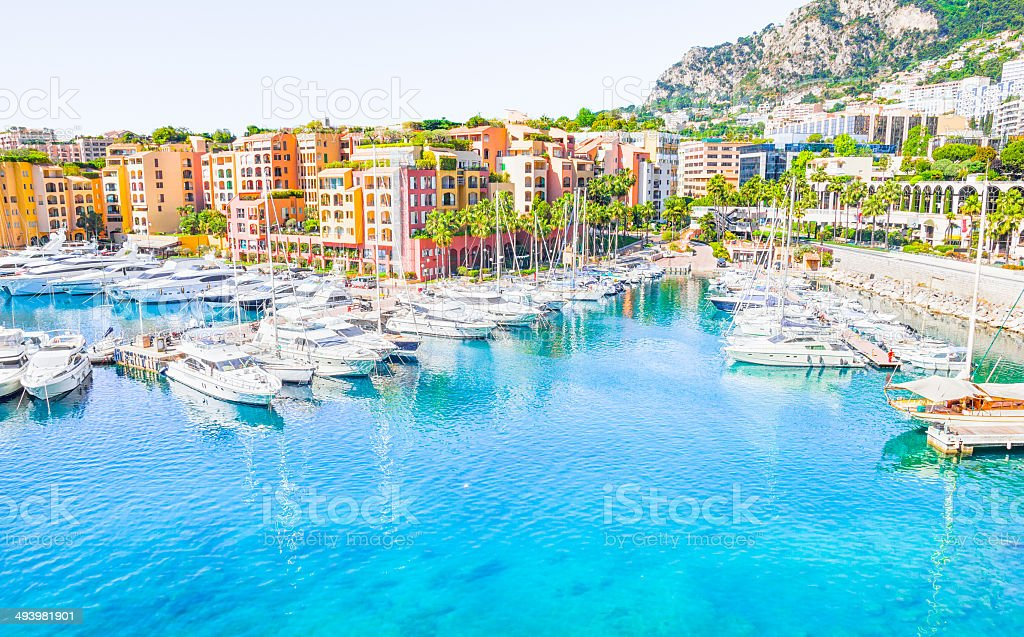 Port in Monaco stock photo