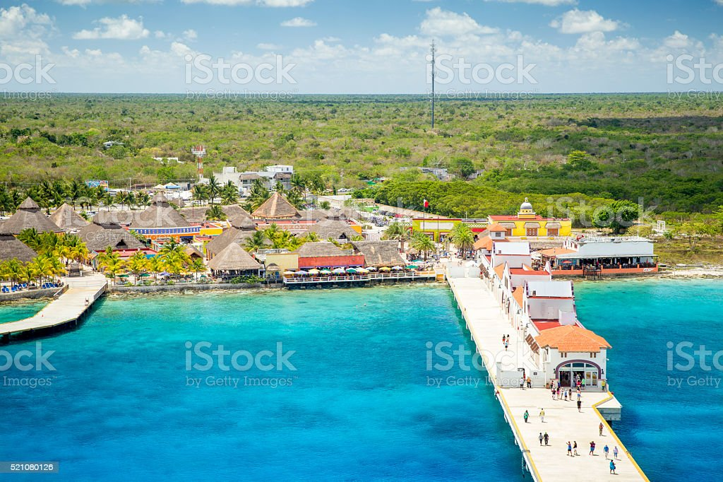 Port in Puerta Maya - Cozumel, Mexico stock photo