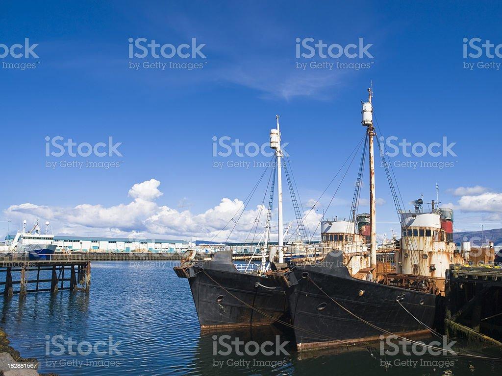 Port in Reykjavik royalty-free stock photo