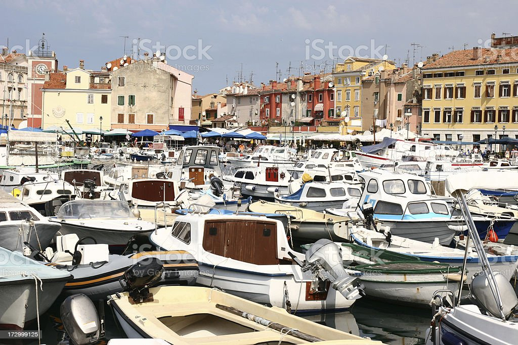 port in rovinj stock photo