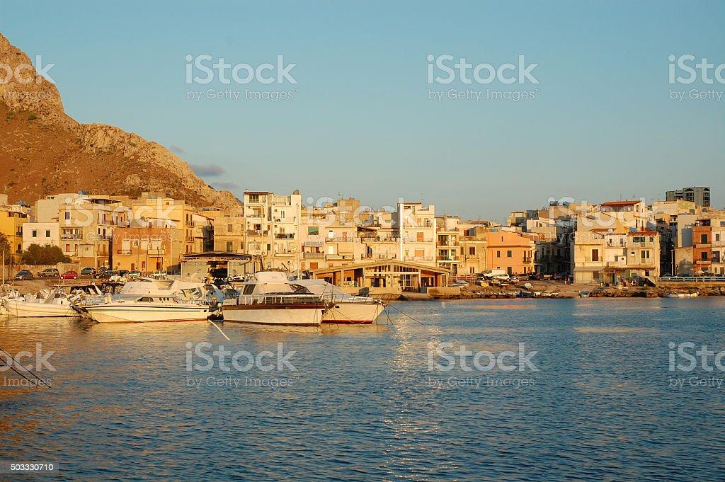 Port in Sferracavallo (Palermo) stock photo