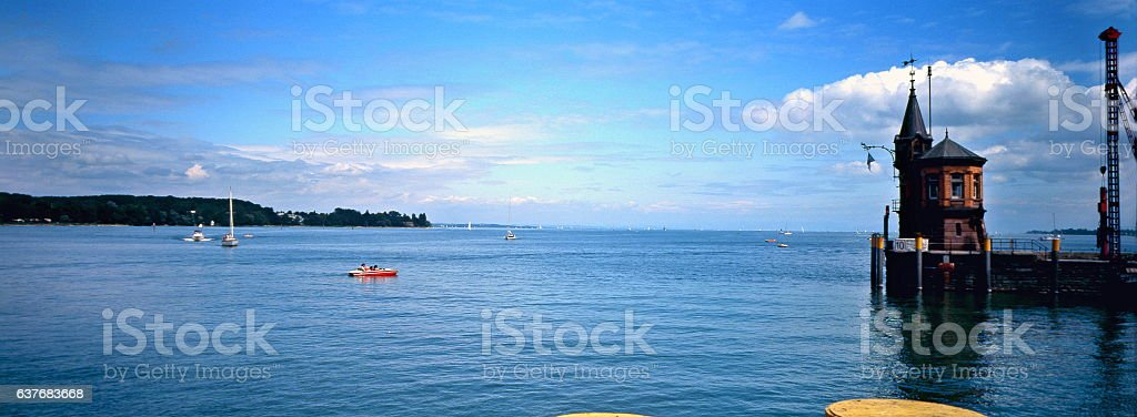 Port in the town on the Bodensee Konstanz, Germany stock photo
