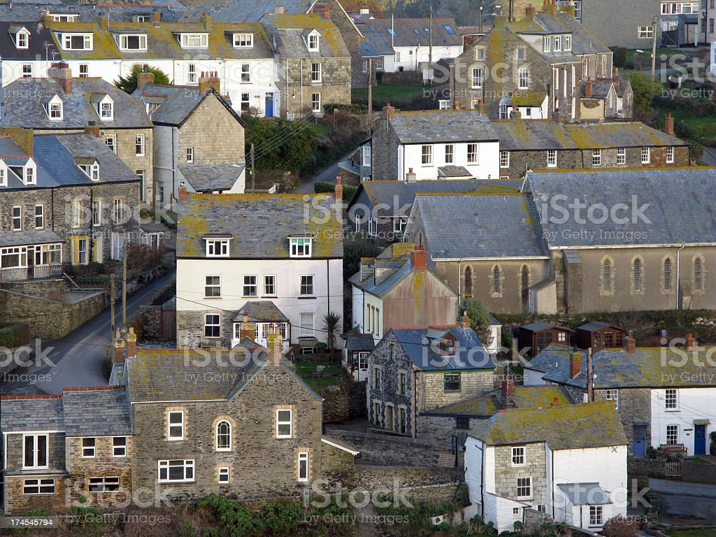 Port Isaac, Cornwall stock photo