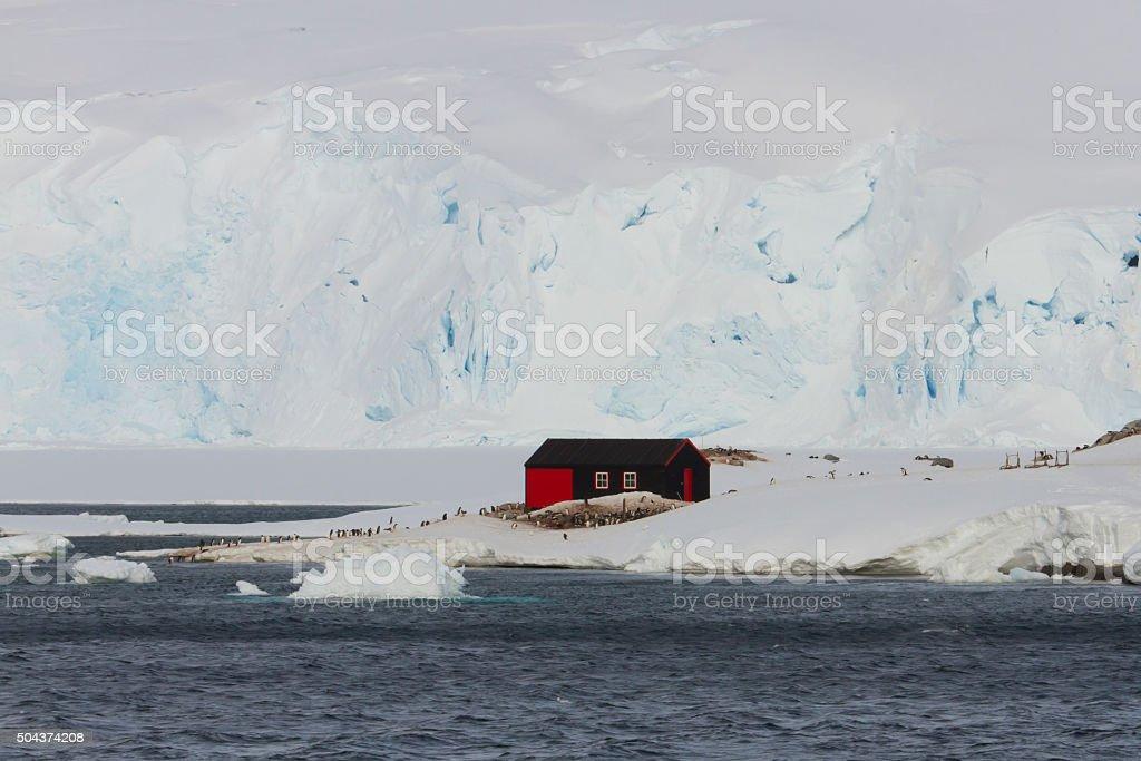 Port Lockroy Heritage Site, Antarctica stock photo
