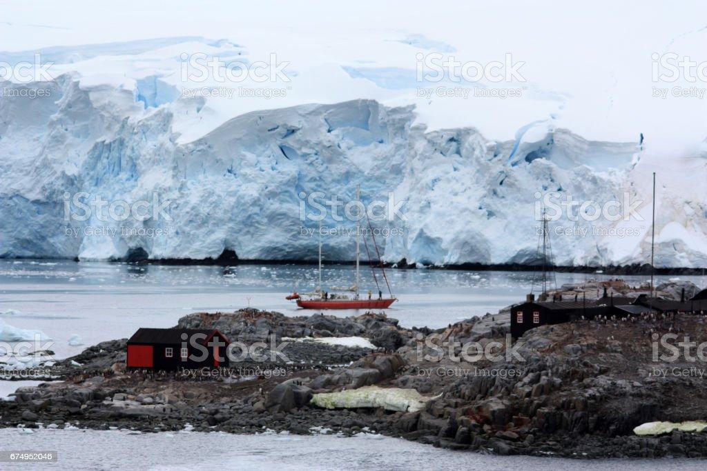 Port Lockroy in Antarctica stock photo
