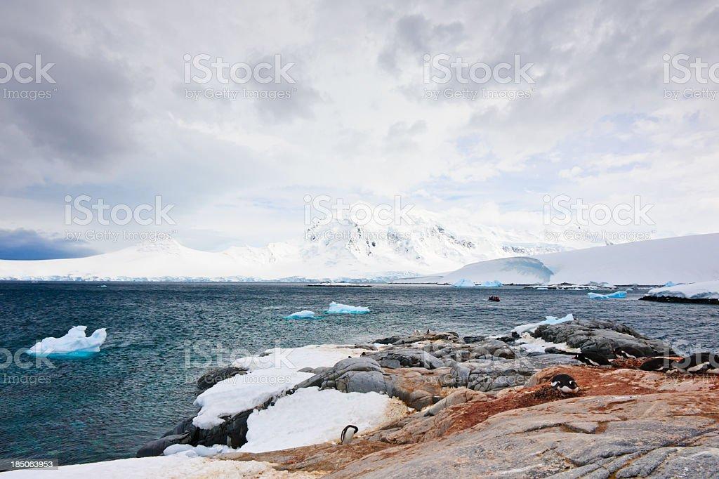 Port Lockroy view stock photo
