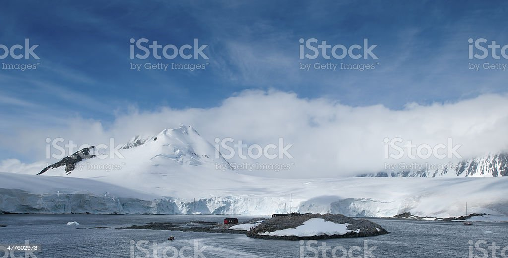 Port Lockroy--Biggest Shopping Mall in Antarctica stock photo