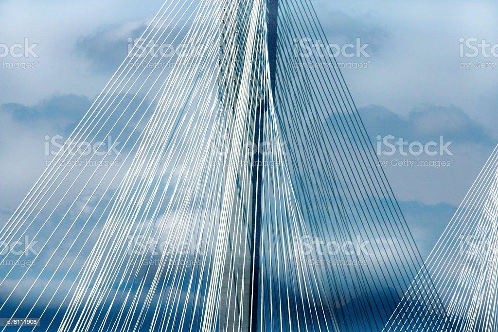 Port Mann Bridge, British Columbia, Canada stock photo