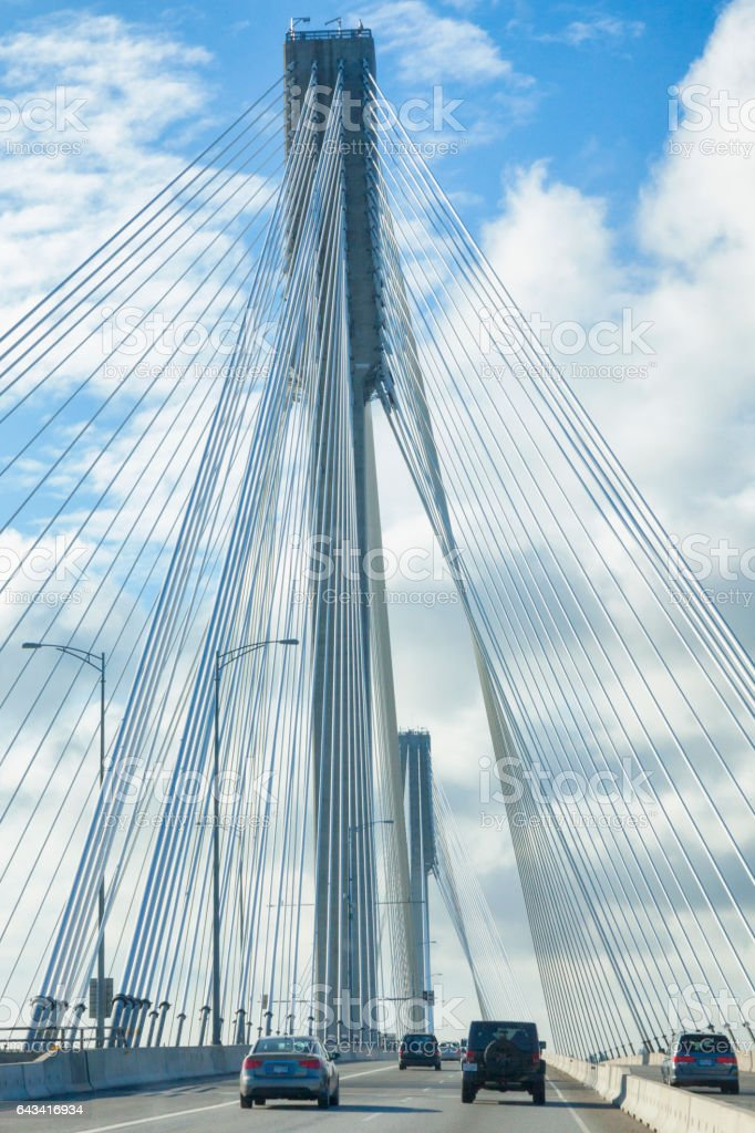 Port Mann Bridge in Vancouver, British Columbia, Canada stock photo