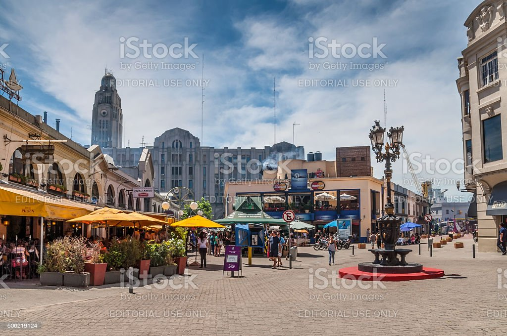Port Market - Mercado del puerto - Montevideo Uruguay stock photo