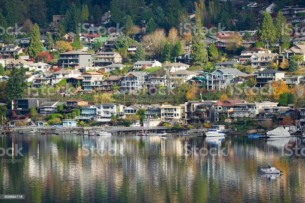 Port Moody British Columbia stock photo