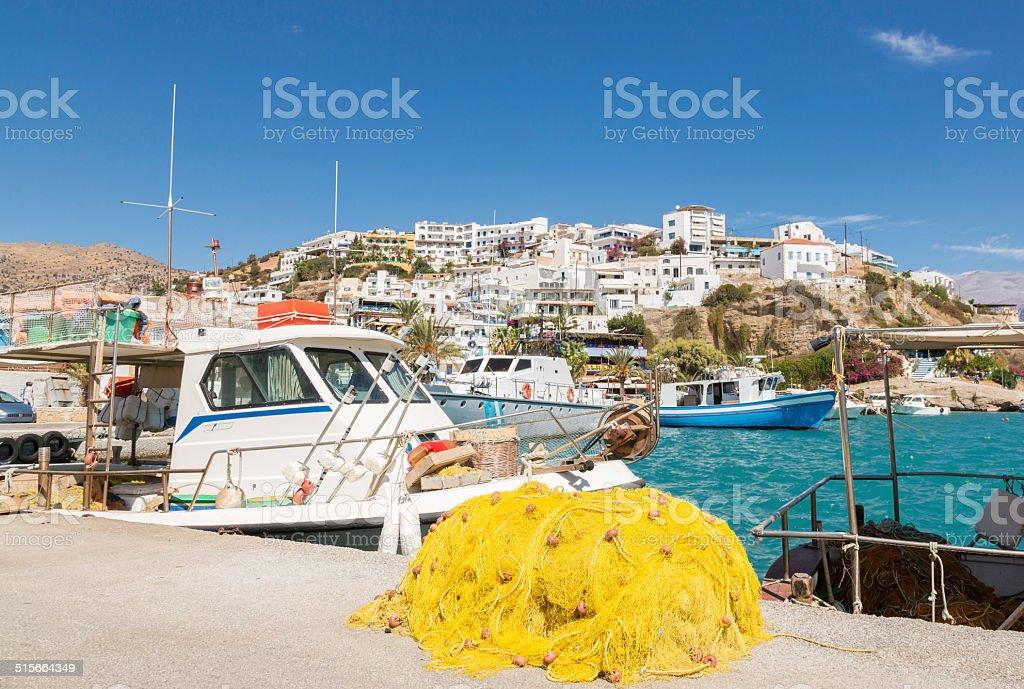 Port of Agia Galini, Greece stock photo