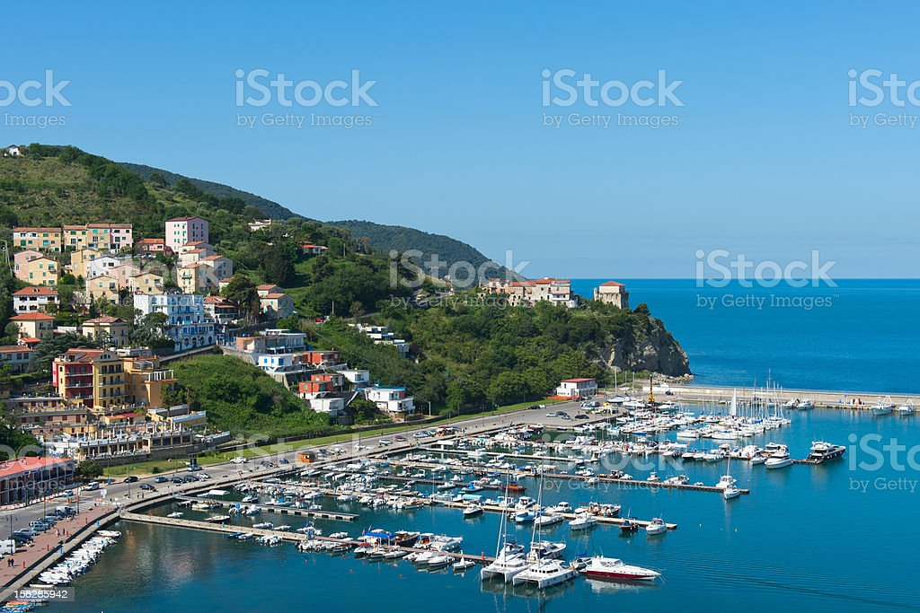 port of Agropoli stock photo