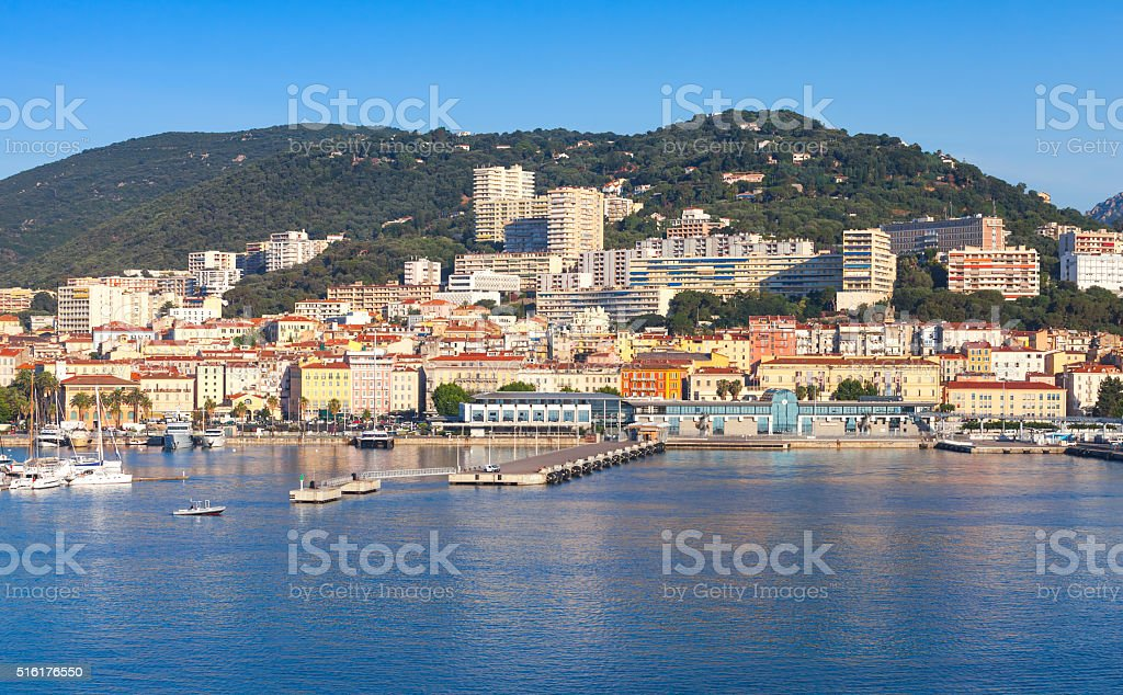 Port of Ajaccio, Corsica, the capital of Corsica stock photo