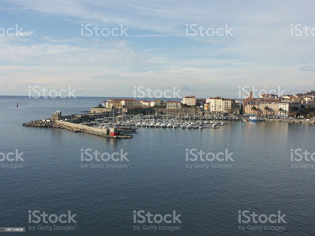 Port of Ajaccio (Corsica) royalty-free stock photo
