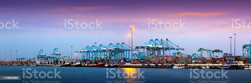 Port of Algeciras - one of  largest ports in Europe stock photo