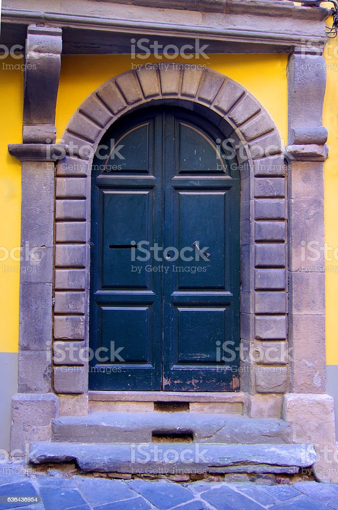 port of ancient European palace stock photo