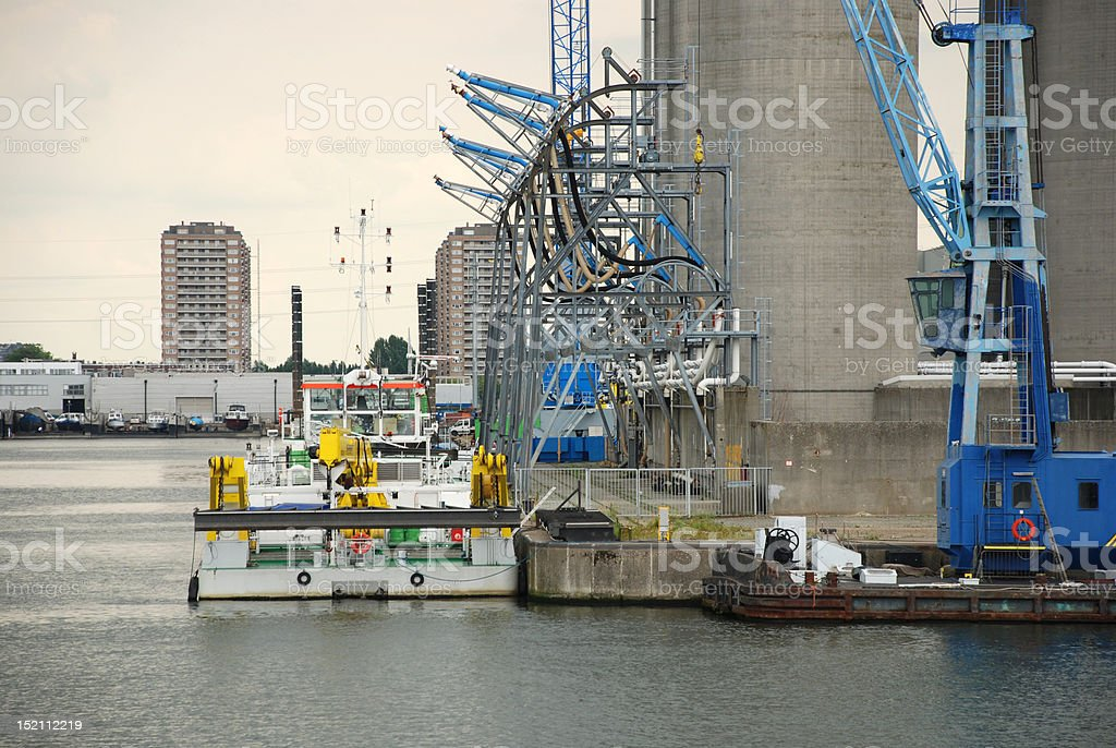 Port of Antwerp royalty-free stock photo