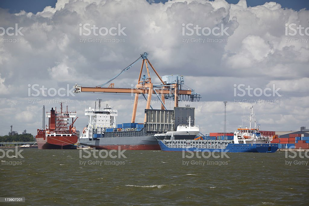 Port of Antwerp royalty-free stock photo
