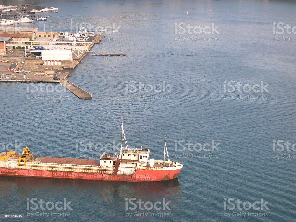 Port of Baia - Hulk of a ship #2 stock photo