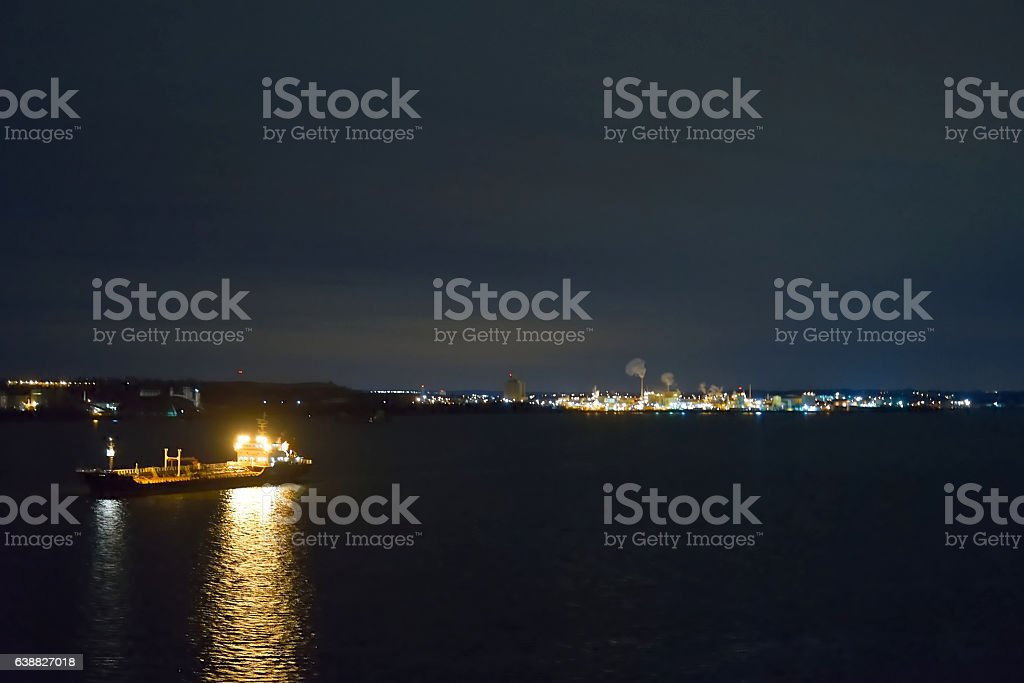 Port of Baltimore at Dawn stock photo
