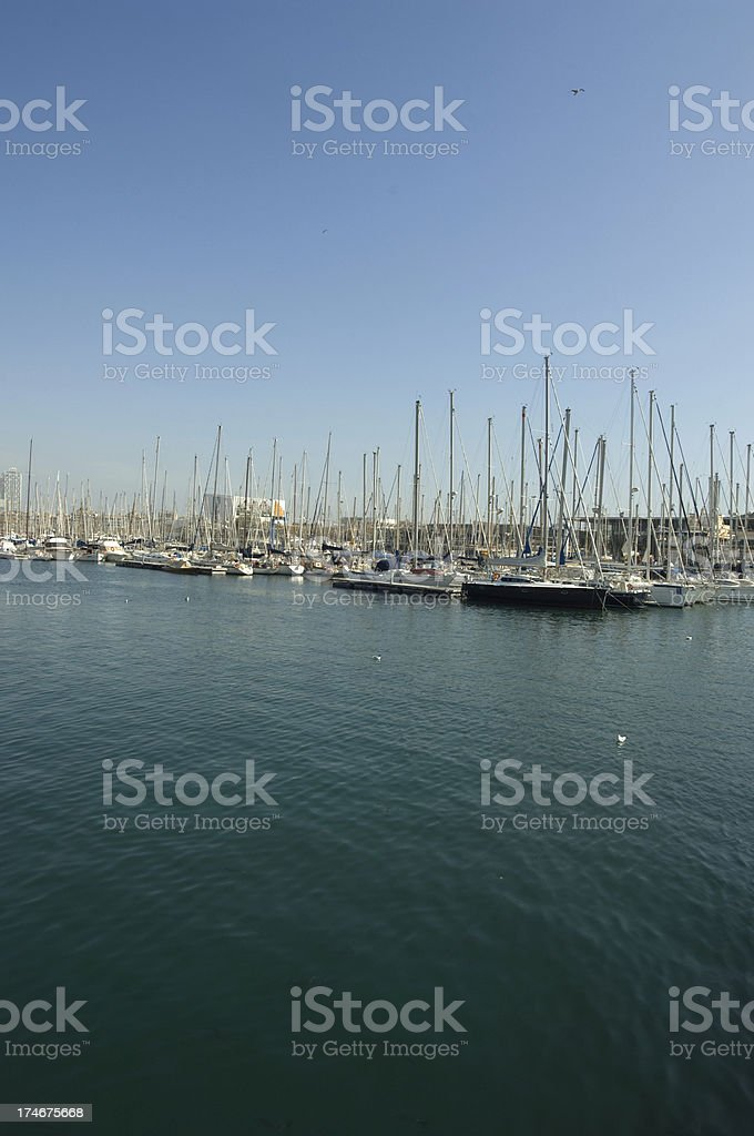 Port of Barcelona royalty-free stock photo
