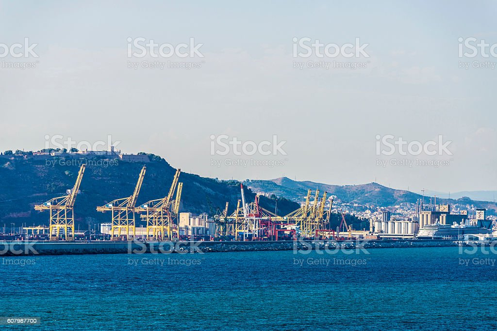 Port of Barcelona, Spain stock photo