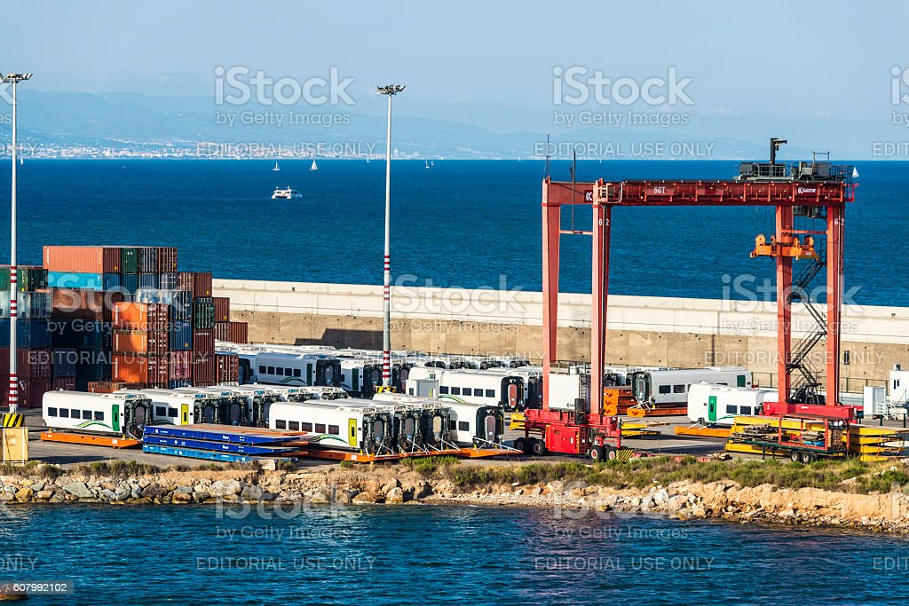 Port of Barcelona, Spain stock photo
