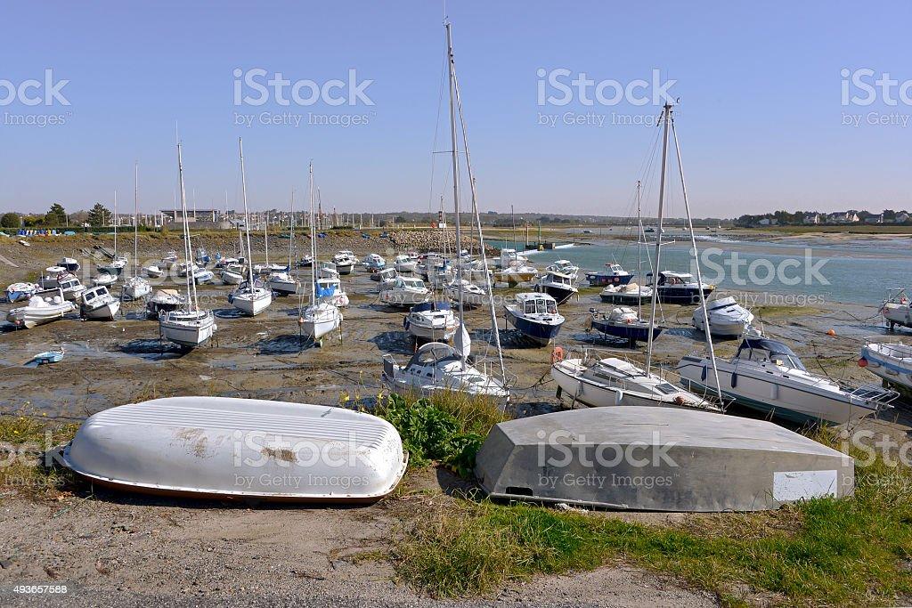 Port of  Barneville-Carteret in France stock photo