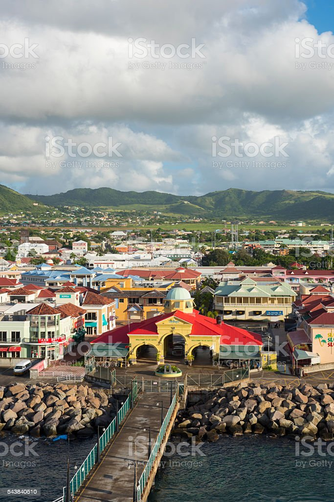 Port of Basseterre, St. Kitts and Nevis stock photo