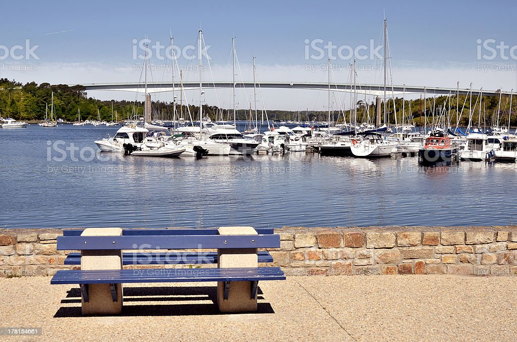 Port of Bénodet in France royalty-free stock photo