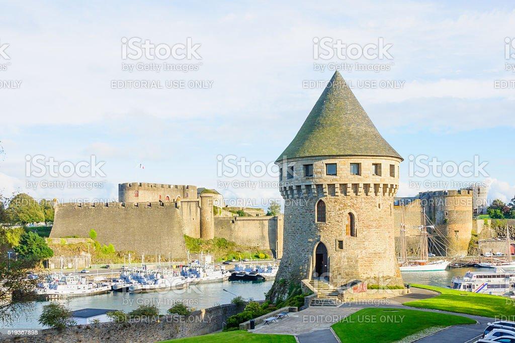 Port of Brest stock photo