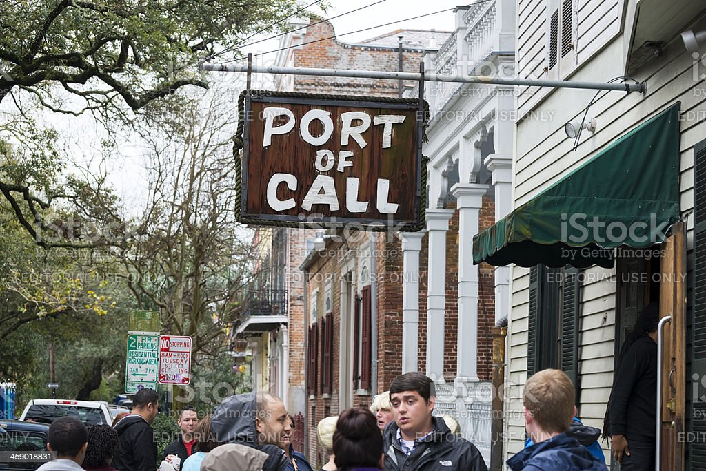 Port of Call restaurant in New Orleans royalty-free stock photo