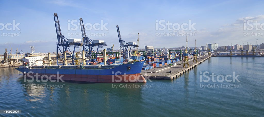 port of Casablanca, Morocco royalty-free stock photo