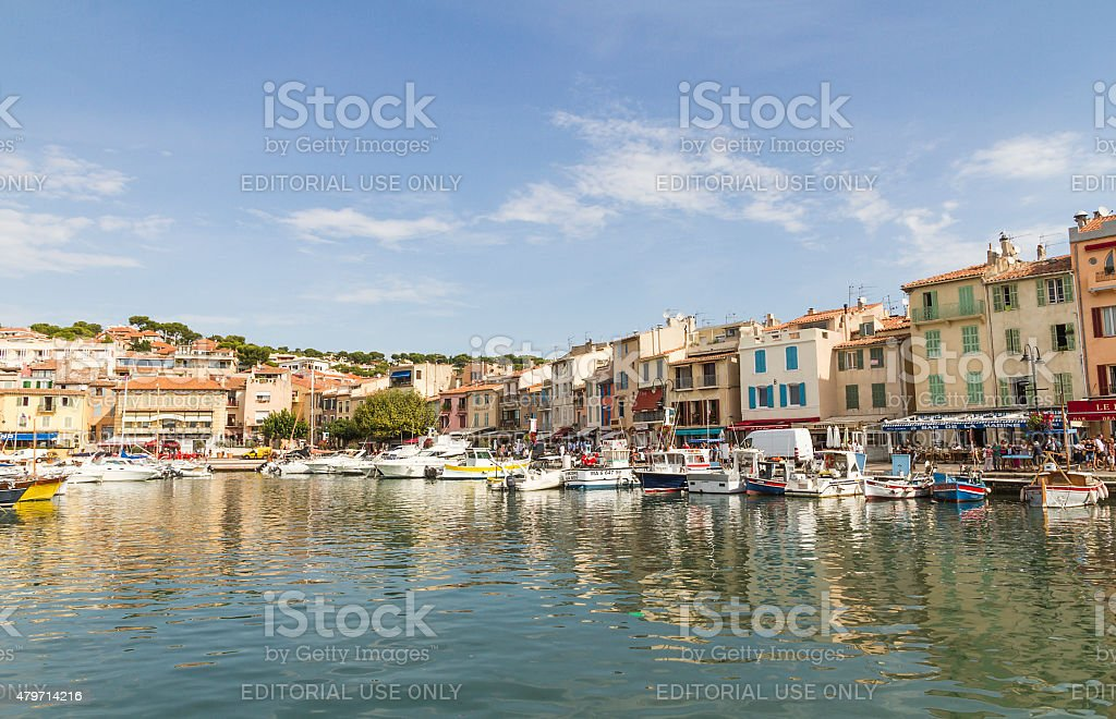 Port of Cassis - French Riviera stock photo
