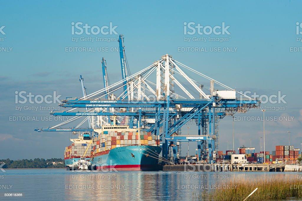Port of Charleston 1 stock photo