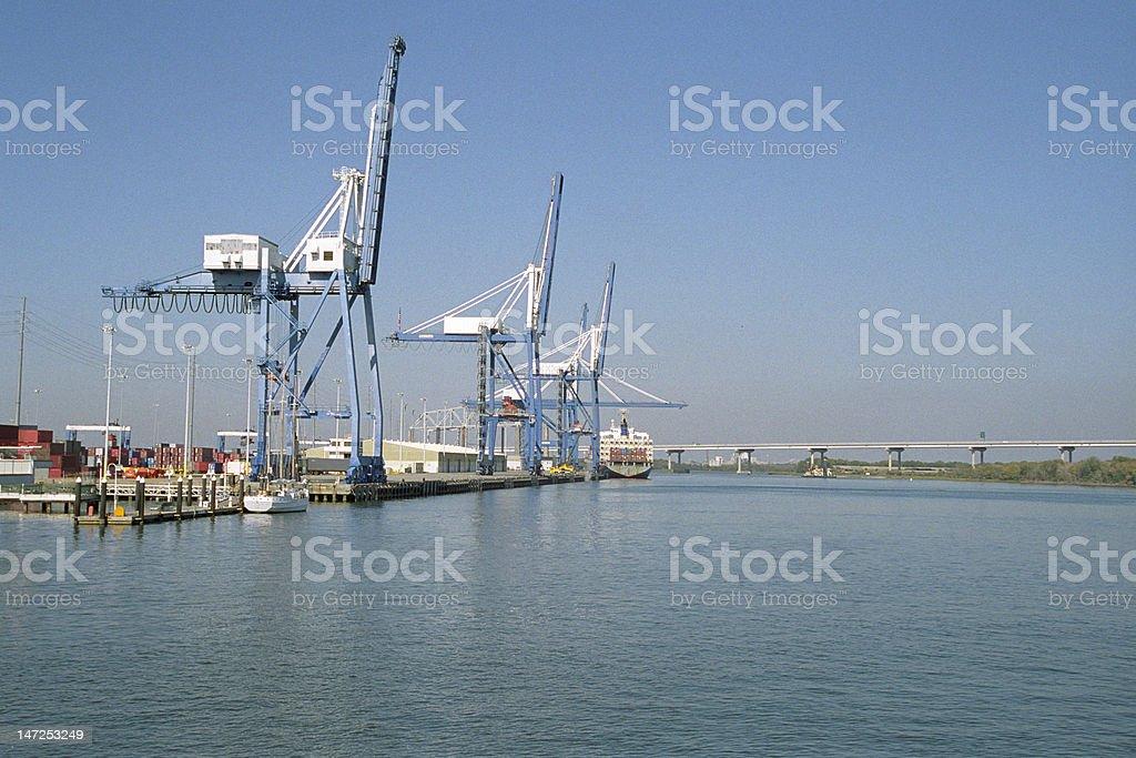 Port of Charleston royalty-free stock photo