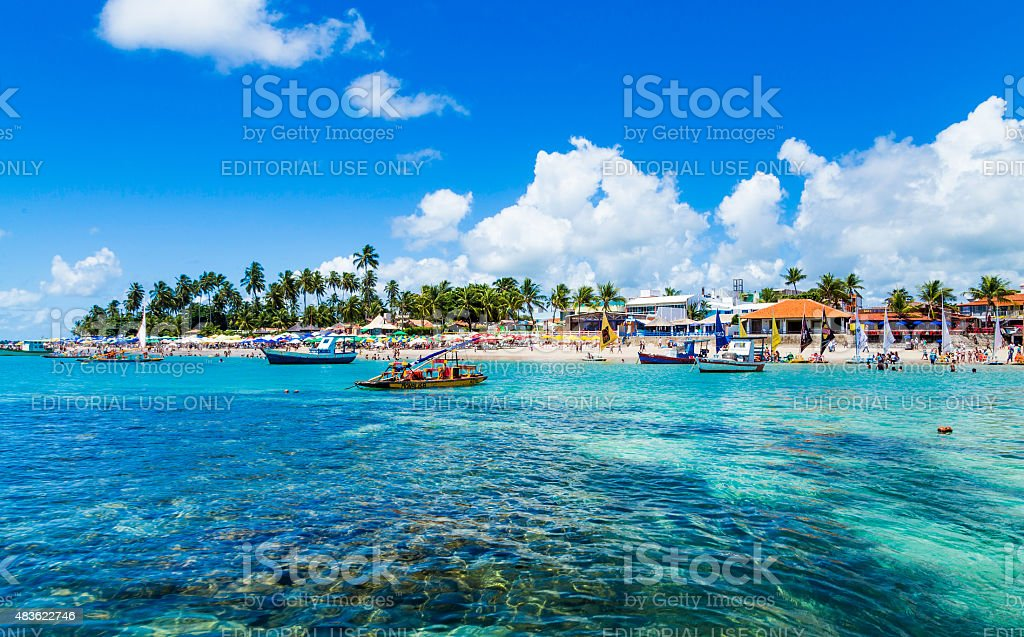 Porto de Galinhas in Pernambuco, Brazil stock photo