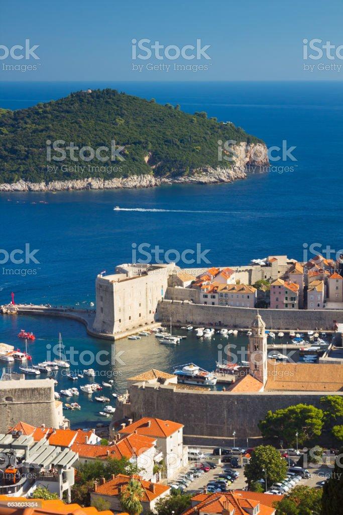 Port of Dubrovnik stock photo