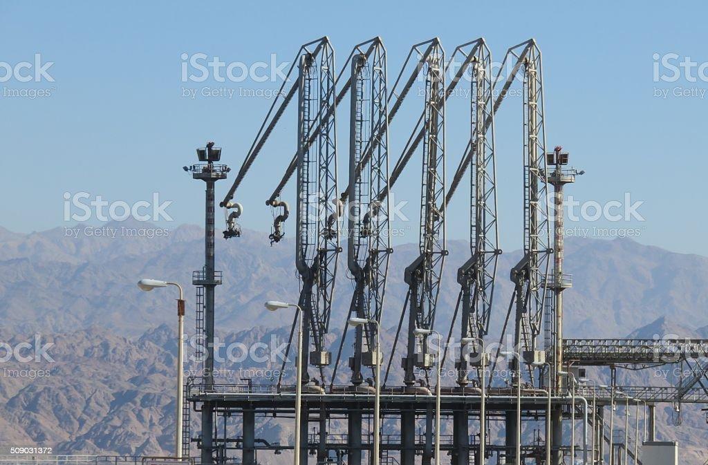 Port of Eilat stock photo