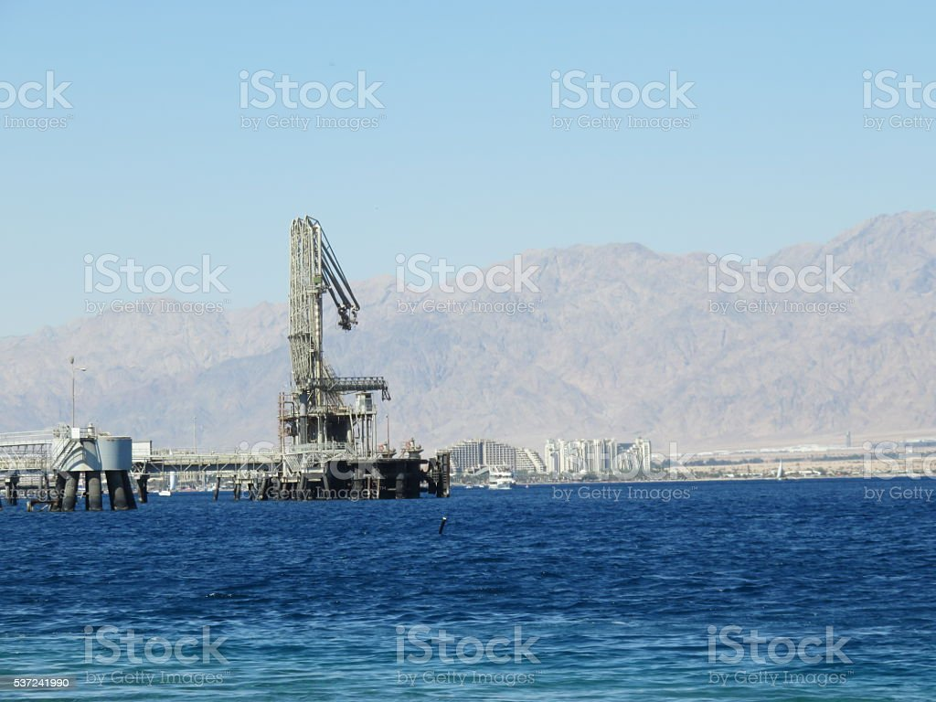 Port of Eilat stock photo