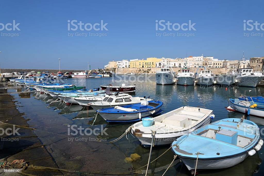 Porto di Gallipoli stock photo